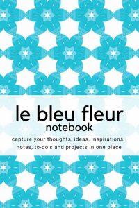 notebok - le bleu fleur