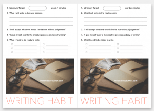 writing routine and habits